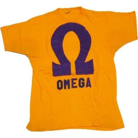 〜1980's championバータグ フロッキープリントTシャツ【珍しいOMEGA】表記(L)