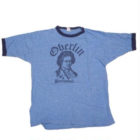 1980's ベートーベン T-shirts ブルー杢 (実寸M-L)