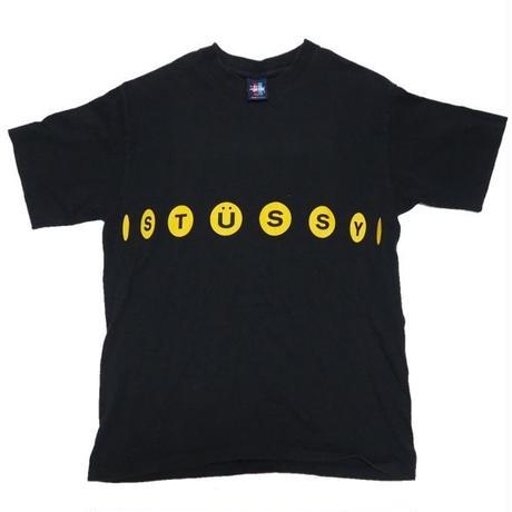 1990's  USA製 STUSSY ロゴT-shirts  (なんだかUがスマイルに見える)  表記(M)
