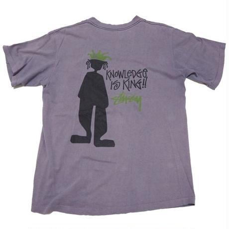 1980's USA製STUSSY(黒 タグ ®︎無し) シャドーマン T-shirts 表  記(L)