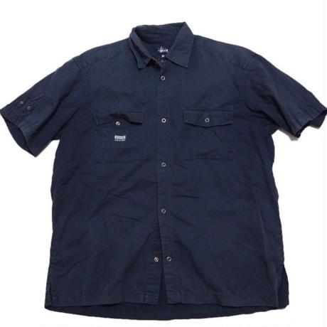 1990's USA製 STUSSY   胸Wポケットワークシャツ 表記(M)