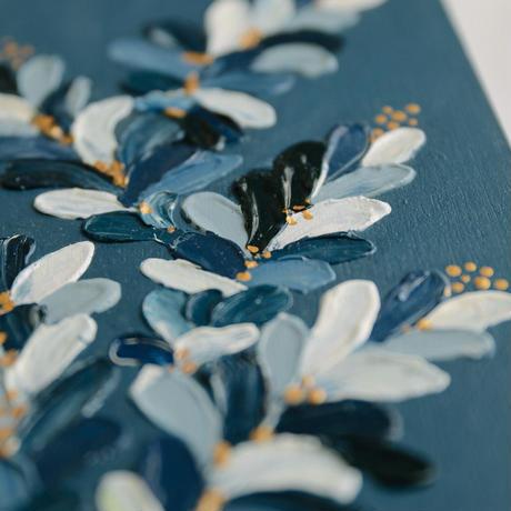 <ala yotto> ルームアート「花のよう」  / Indigo blue