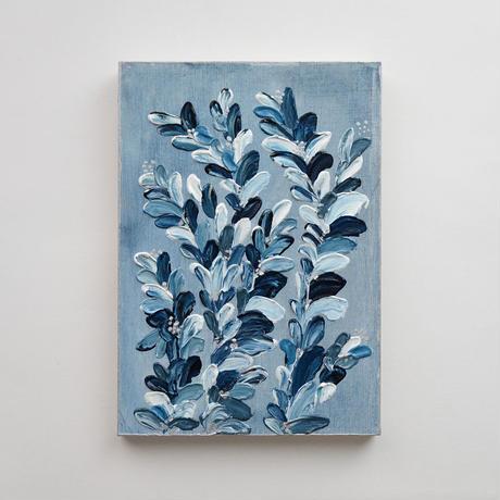 <ala yotto> ルームアート「花のよう」  /薄藍