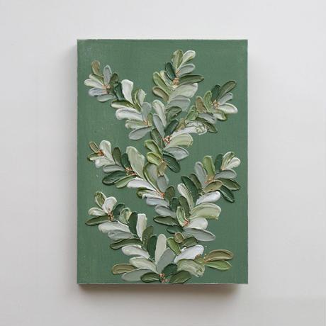 <ala yotto> ルームアート「花のよう」  /Moss green