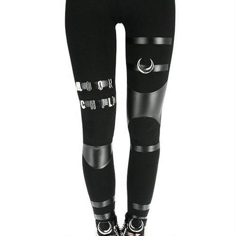 MOON CHILD LEGGINGS black gothic pants with panels<各サイズ>