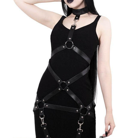 KSRA000275  Locked Away Midi Dress  <BLK>