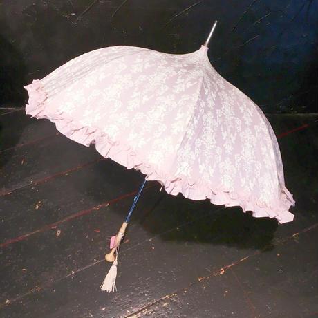 VI-6951 内側レース晴雨兼用傘 <PNK>