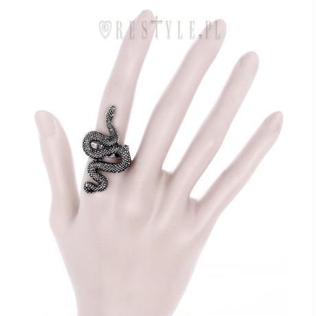 RE-4549 SNAKE RING<SLV>