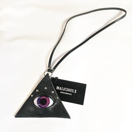 EYE-COIN TRIANGLE COINCASE<VIOLET PINK>