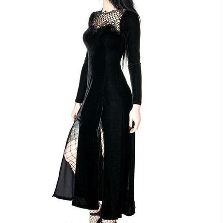 RE-0038 BLACK WIDOW DRESS<BLK/S>