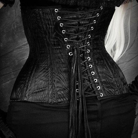 RE-5233 BLACK PEACOCK CORSET<BLK/20inch>