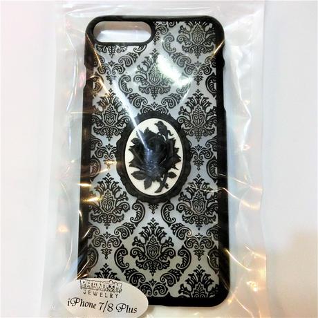 ダマスク iPhoneケース <黒薔薇/各サイズ>