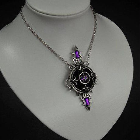 RE-469 MYSTIC MIRROR NECKLACE<SLV>