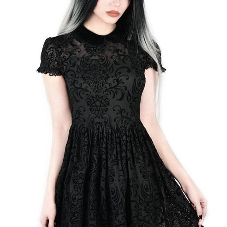 KSRA1031 Bathory Babydoll Dress<BLK/M>
