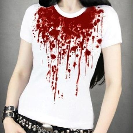 RE-0020 T-shirt splash of blood<WHT/XS>