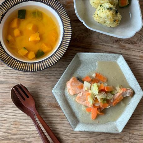【Bebemeshi kids MEAL SET】鮭のちゃんちゃん焼き & かぼちゃのすまし汁