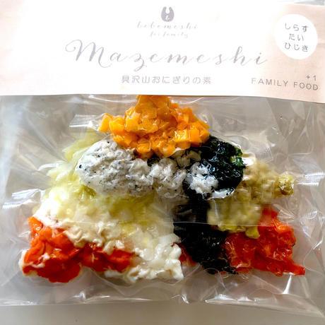 1歳頃〜 【Mazemeshi】具沢山おにぎりの素「鯛・しらす・ひじきミックス」真空パック(3袋)