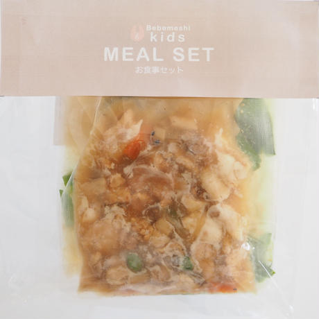 【Bebemeshi kids MEAL SET】豚肉と彩り野菜の和風丼 & 大根のお味噌汁