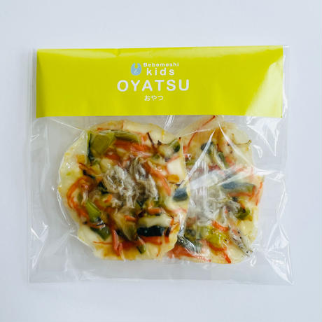 【Bebemeshi kids oyatsu】しらすと青菜の米粉チヂミ(2つ入り)