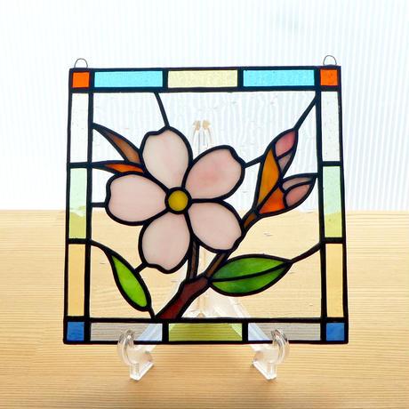 ステンドグラス ミニパネル 桜ii 15cm