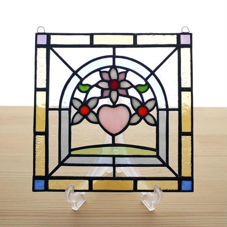 ステンドグラス ミニパネル フラワー(ii)15cm