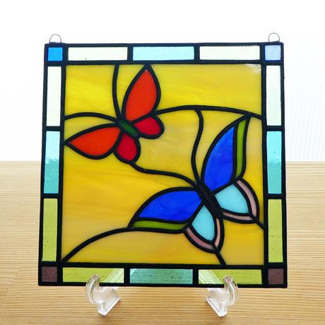 ステンドグラス ミニパネル バタフライⅡ 15cm