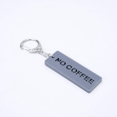 NO COFFEE KEY CHAIN GRAY
