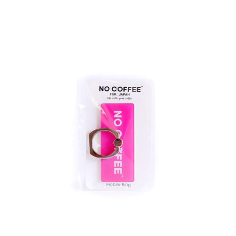 NO COFFEE Mobile Ring ロゴ(ピンク)