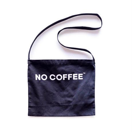 NO COFFEE SHOULDER BAG (BLACK)
