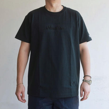 NO COFFEE × #Re:room 3D LOGO EMBROIDERY Tシャツ