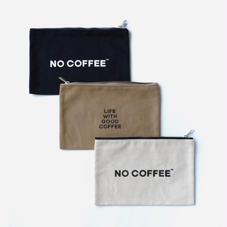 NO COFFEE CANVAS POUCH