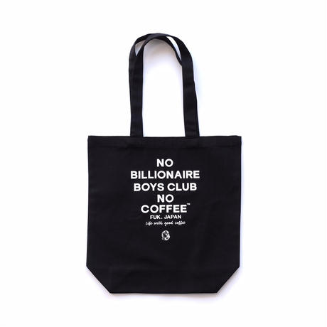 BILLIONAIRE BOYS CLUB × NO COFFEE NO BBC トートバッグ(ブラック)