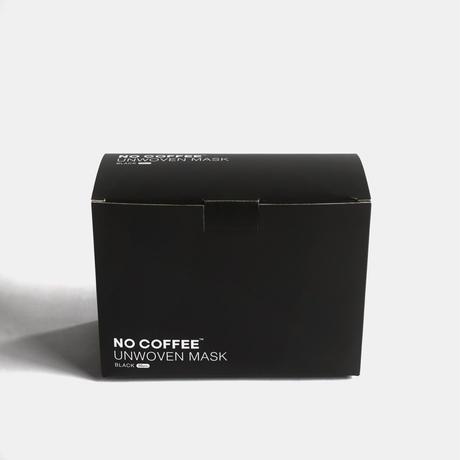 NO COFFEE UNWOVEN MASK 50pcs set Black
