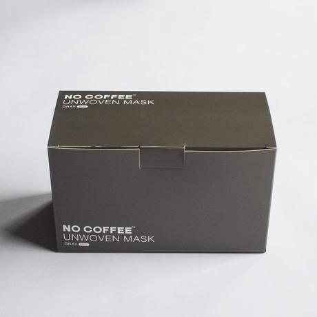 NO COFFEE UNWOVEN MASK 50pcs set Gray