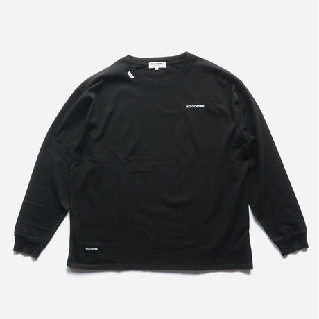 NO COFFEE ロゴ刺繍 L/S Tシャツ