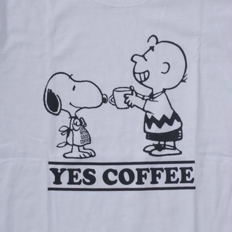 【NO COFFEE別注】 SEVESKIG × SNOOPY Tシャツ  Ver.2 WHITE