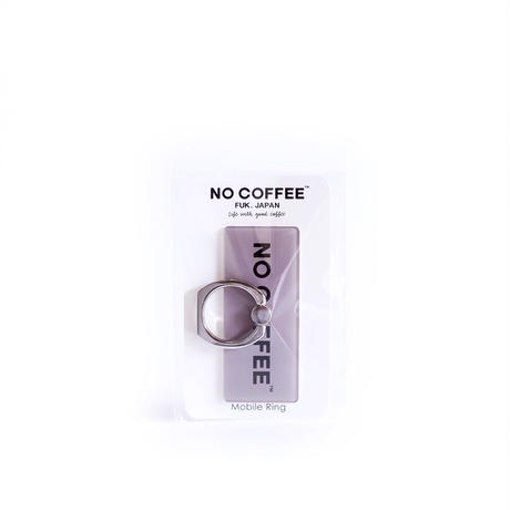NO COFFEE Mobile Ring ロゴ(グレー)