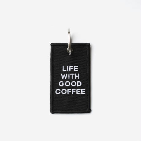 NO COFFEE POLY KEY HOLDER