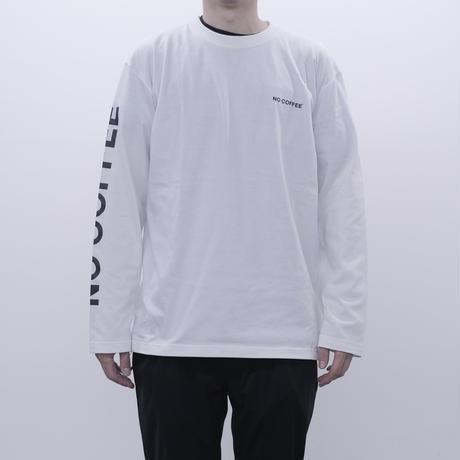 NO COFFEE LS Tシャツ(ホワイト)