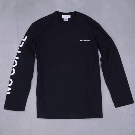 NO COFFEE LS Tシャツ(ブラック)