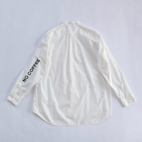 NO COFFEE × FUJITO B/S Stand collar Shirt
