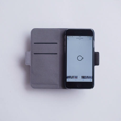 NO COFFEE 手帳型iPhone7Plus用(グレー)