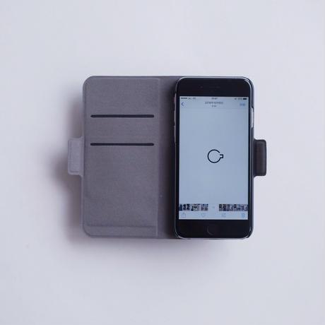 NO COFFEE 手帳型iPhone7用(グレー)