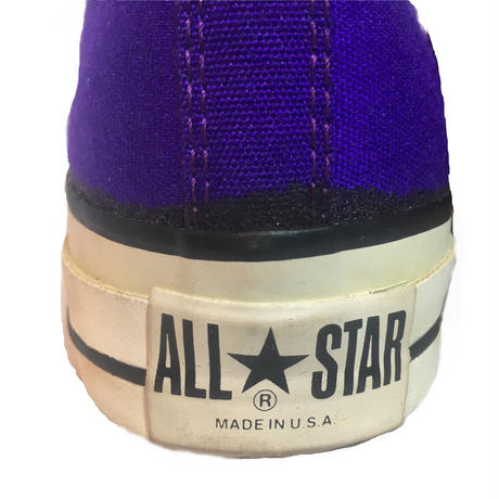 "80's CONVERSE ALL STAR Hi HOT PURPLE ""ON FIRE"""