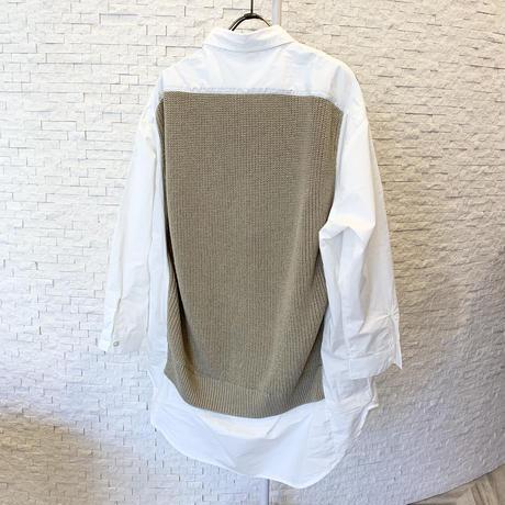 ニットベストドッキングシャツ