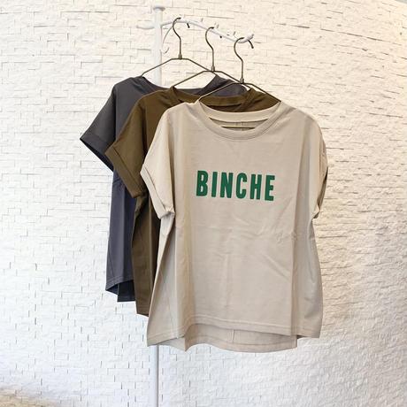 BINCHEフロッキーロゴTシャツ