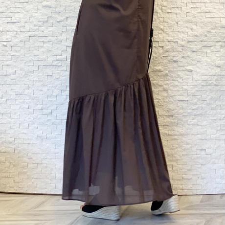 半袖切替ワンピース