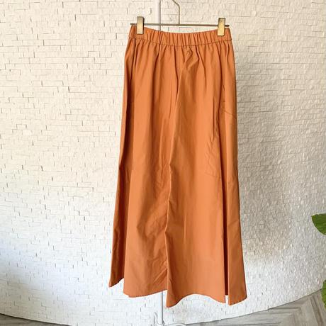 カラーフレアロングスカート