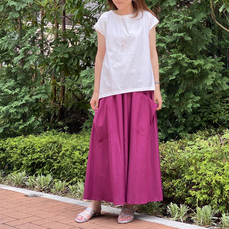 サイドポケットロングスカート