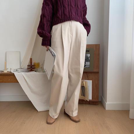 ✳︎予約販売✳︎warm tuck wide pants /2colors_np0111